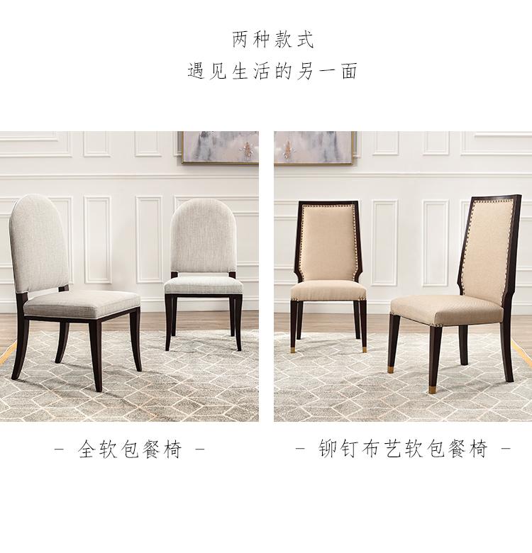 保利和品NAPA纳帕全软包餐椅(2把)YXQ06-2