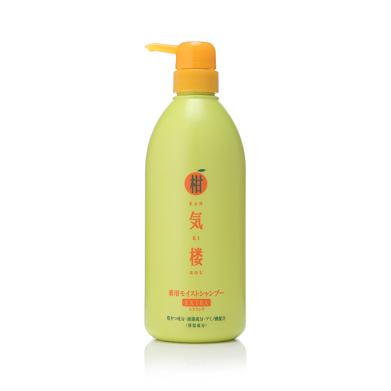 柑气楼KAN KI ROU 日本进口柑気楼洗发水无硅油柑橘滋养洗发露725g 养护头皮控油固发护发