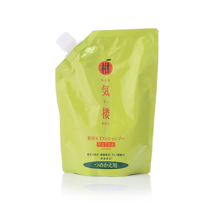 柑气楼KAN KI ROU 日本进口柑気楼柑橘滋养洗发露洗发水袋装控油500g替换装 针对发量稀疏