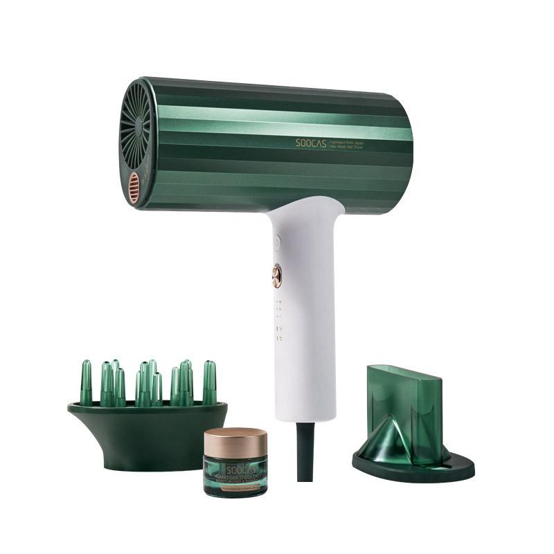 素士小米生态企业发膜电吹风 胶原蛋白护发家用大功率风筒负离子吹风机礼盒款HMH001