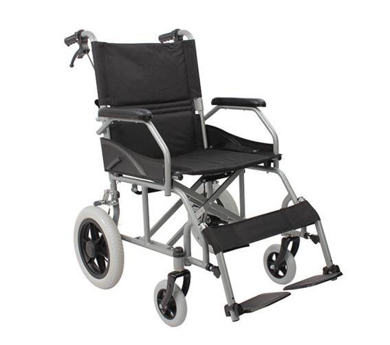 AUFU佛山东方FS863ABJP-46铝合金手动轮椅车折叠免充气轻便手动轮椅车加强铝合金