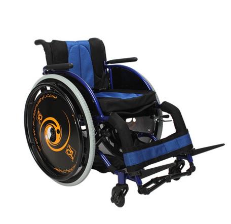 佛山东方AUFU轮椅后轮可拆海绵座垫铝合金休闲运动轮椅FS723LQF1
