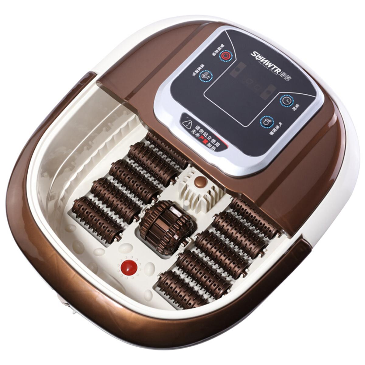 港德智能足浴盆气泡按摩 一键启动自助按摩足浴洗脚盆GD-868电脑版 咖啡色
