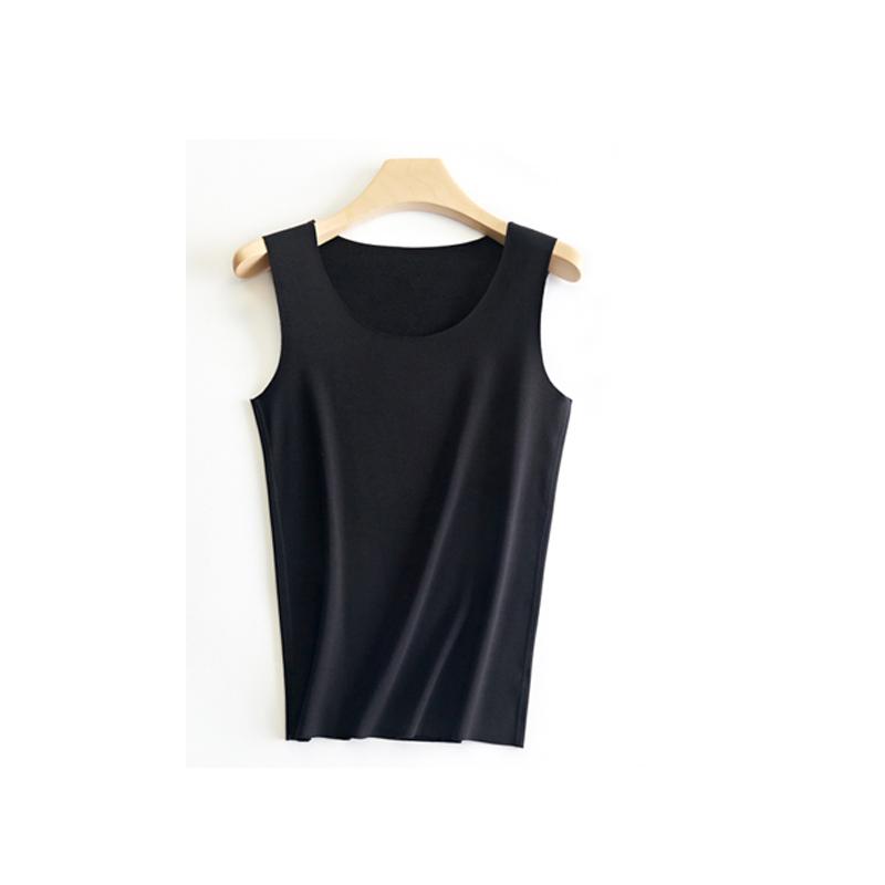 纤丝鸟TINSINO 经典德绒高科技自发热保暖内衣男士无痕背心SD0093 黑色L