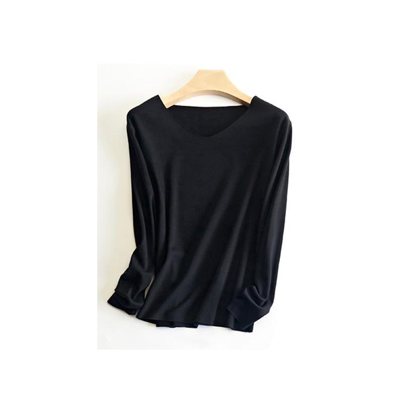 纤丝鸟TINSINO 经典德绒高科技自发热保暖内衣男士无痕长袖上装SD0094 黑色L