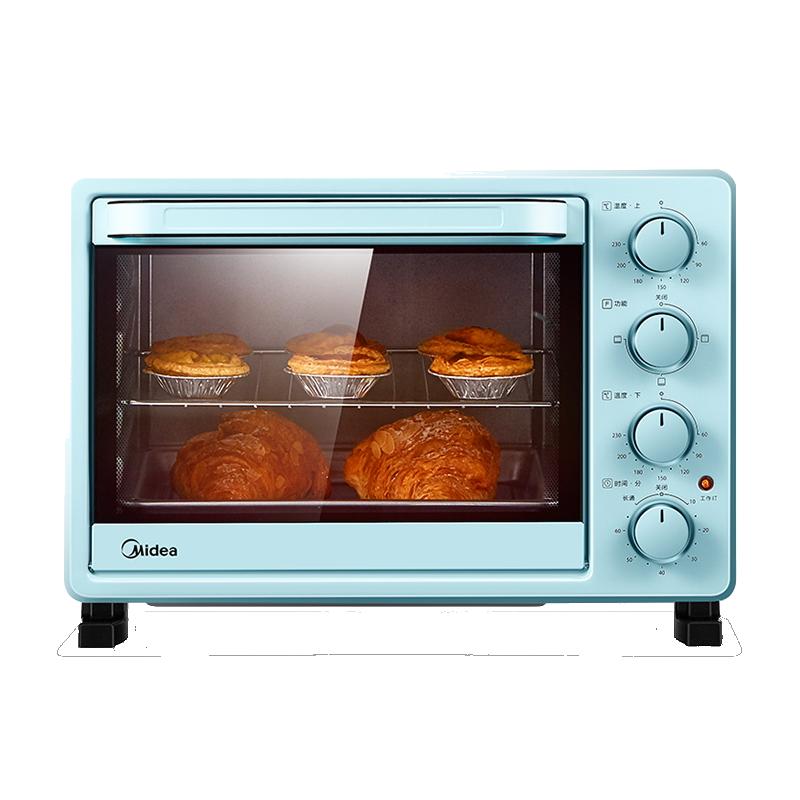 美的(Midea)家用多功能电烤箱 25升 机械式操控 上下独立控温PT2531
