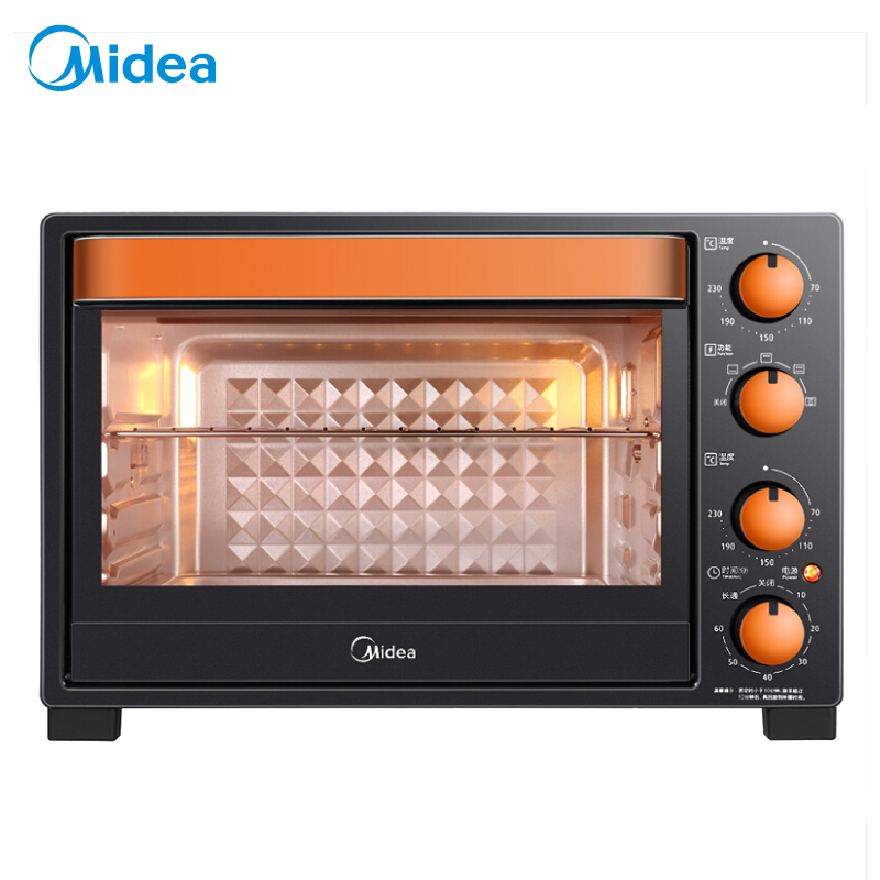 美的(Midea)T3-L326B 家用多功能电烤箱 32升 上下管独立控温 防爆照明灯易操作