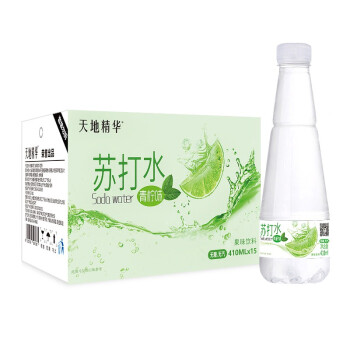 天地精华 苏打水青柠味410ml*15瓶 整箱