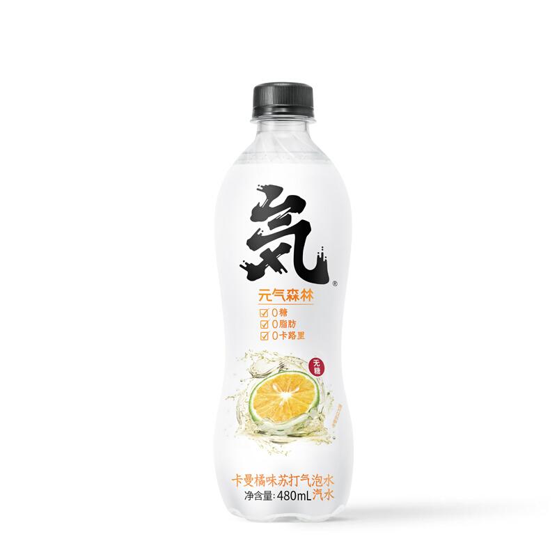 元气森林卡曼橘气泡水480ml*10瓶组合装