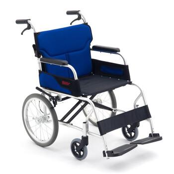日本MIKI三贵轮椅车LSC-2折叠轻便超轻便携老人老年旅行轮椅老人残疾人手动轮椅轻便可折叠 小轮