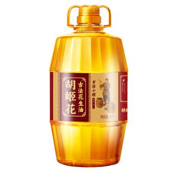 胡姬花古法小榨花生油4L