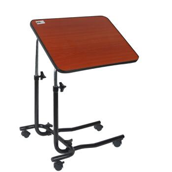 好步(HEPO) 老年人移动饭桌病人护理桌可移动升降床边桌LQX-070005 深红色