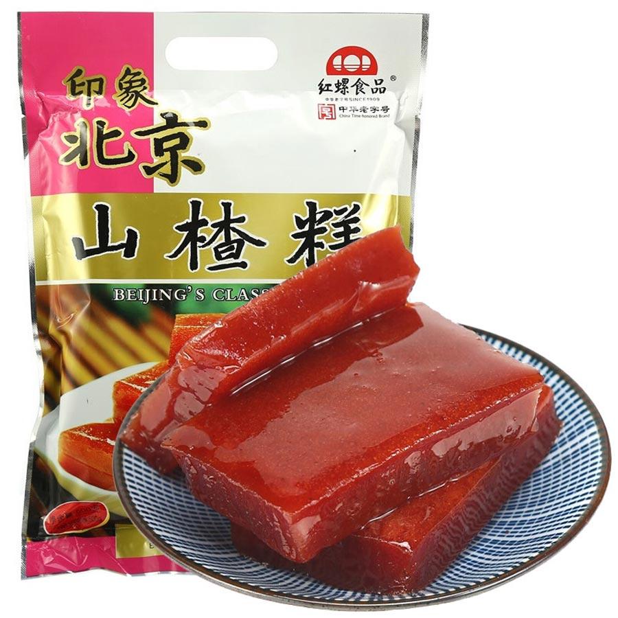 红螺老北京特产 零食 山楂糕500g/袋中华老字号