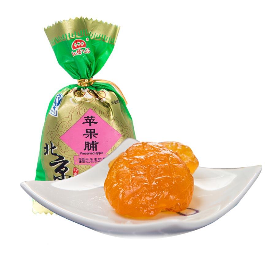红螺 北京特产果脯苹果脯500g休闲零食小吃特产蜜饯果干