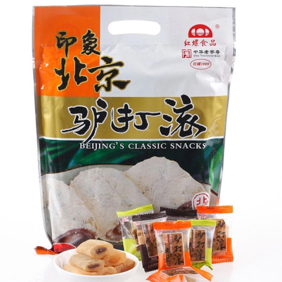 红螺老北京特产 零食糕点心 驴打滚500g/袋中华老字号(红豆板栗花生芝麻等多种口味)