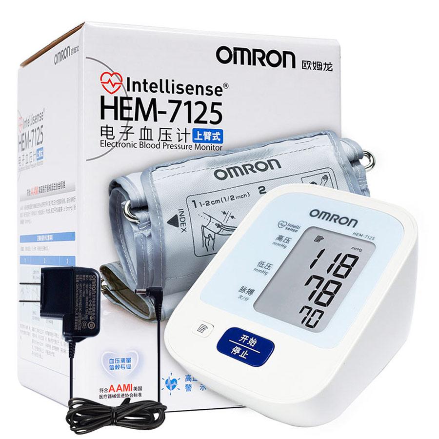 欧姆龙电子血压计 家用上臂式血压测量计大屏血压测量仪HEM-7125