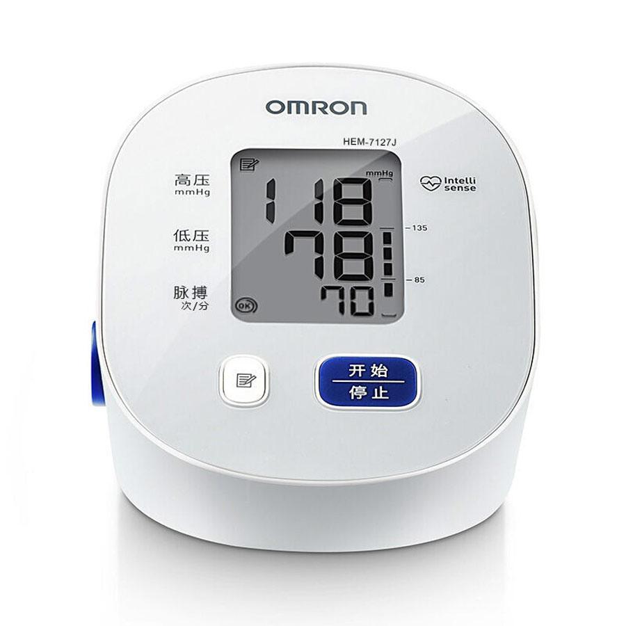 欧姆龙电子血压计全自动上臂式家用老人血压测量仪机器HEM-7127J