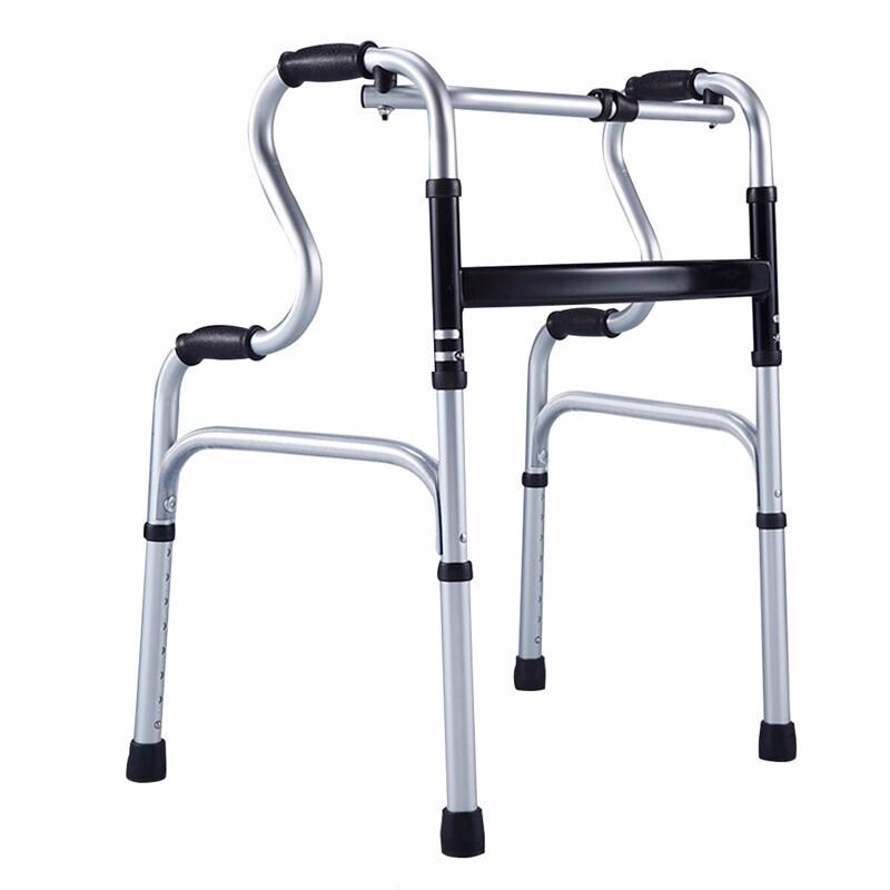雅德 老人助行器四脚行走辅助器轻便可折叠助步器走路扶手架代步手扶椅YC-8203