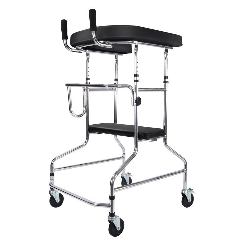 雅德 学步车残疾人走路辅助器下肢训练脑梗偏瘫康复站立架2200 四轮基础款YC2200