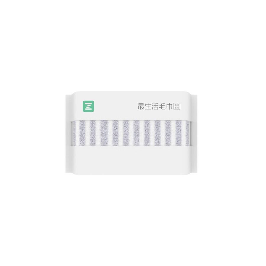 最生活A-1171小米毛巾纯棉强吸水 成人家用 34*80cm灰白
