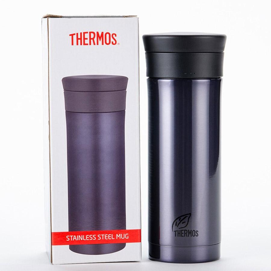 膳魔师(THERMOS)保温杯不锈钢真空泡茶杯带茶漏 CMK-501-BKP