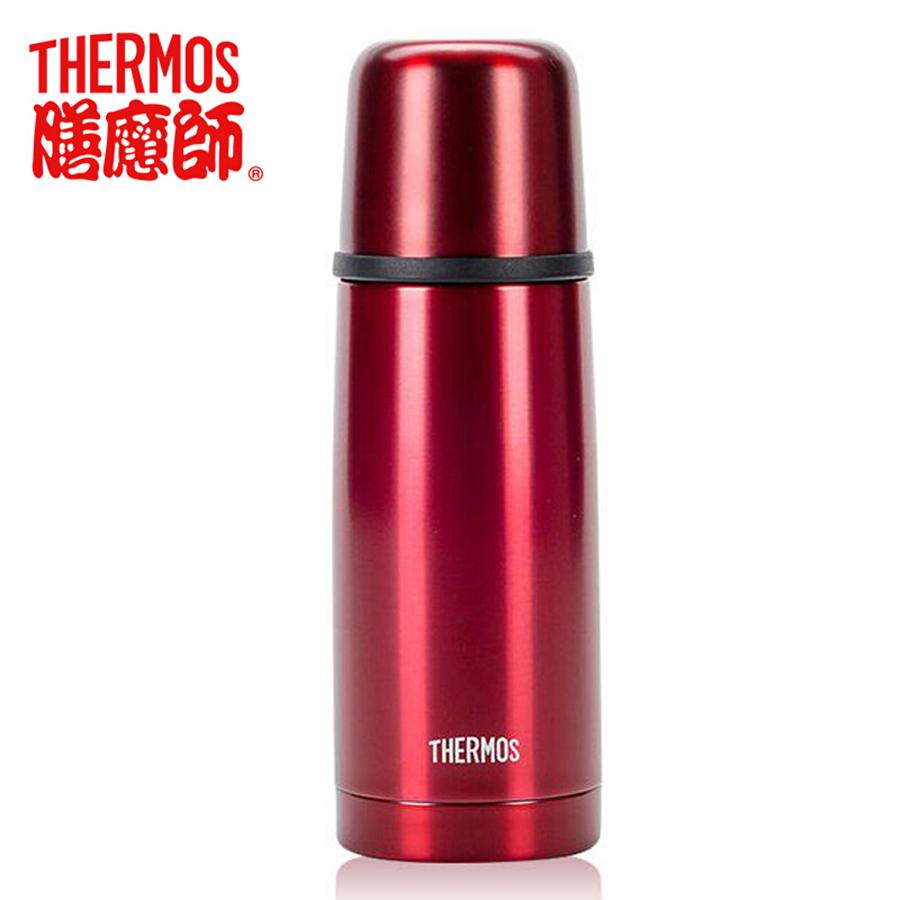 膳魔师(THERM0S)保温杯不锈钢真空男女便携子弹头水杯TCDX-330 红色