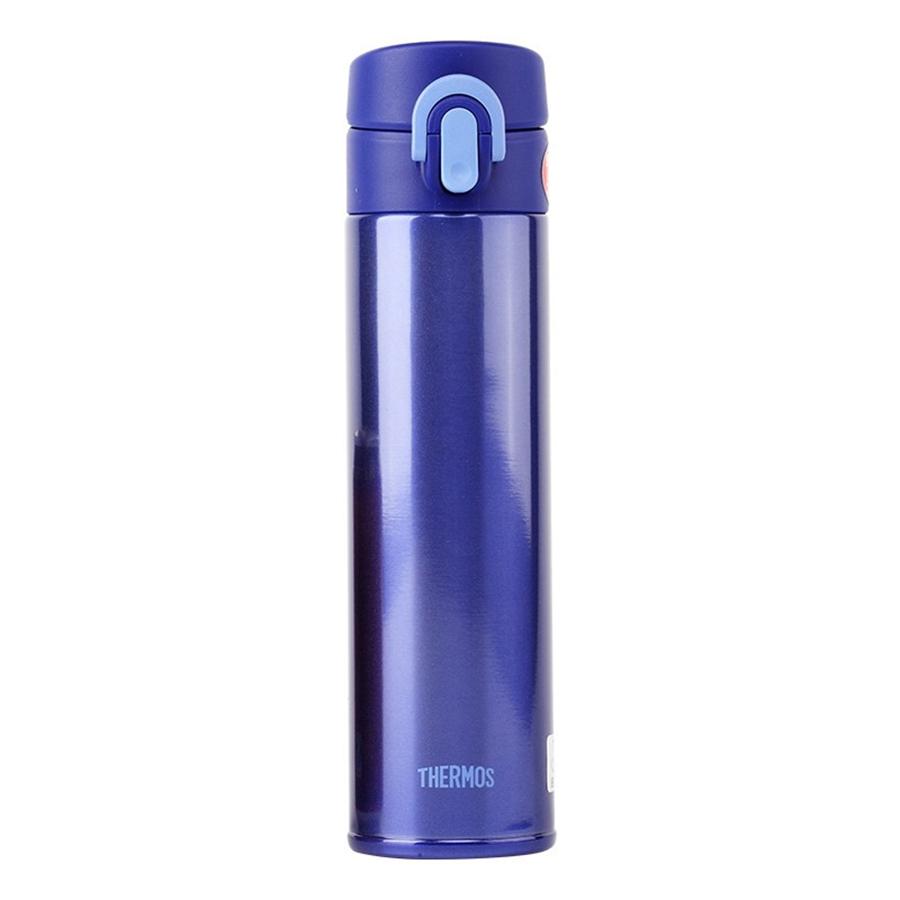 膳魔师(THERM0S)保温杯不锈钢男女水杯子轻便随手杯茶杯JNI-401 蓝色