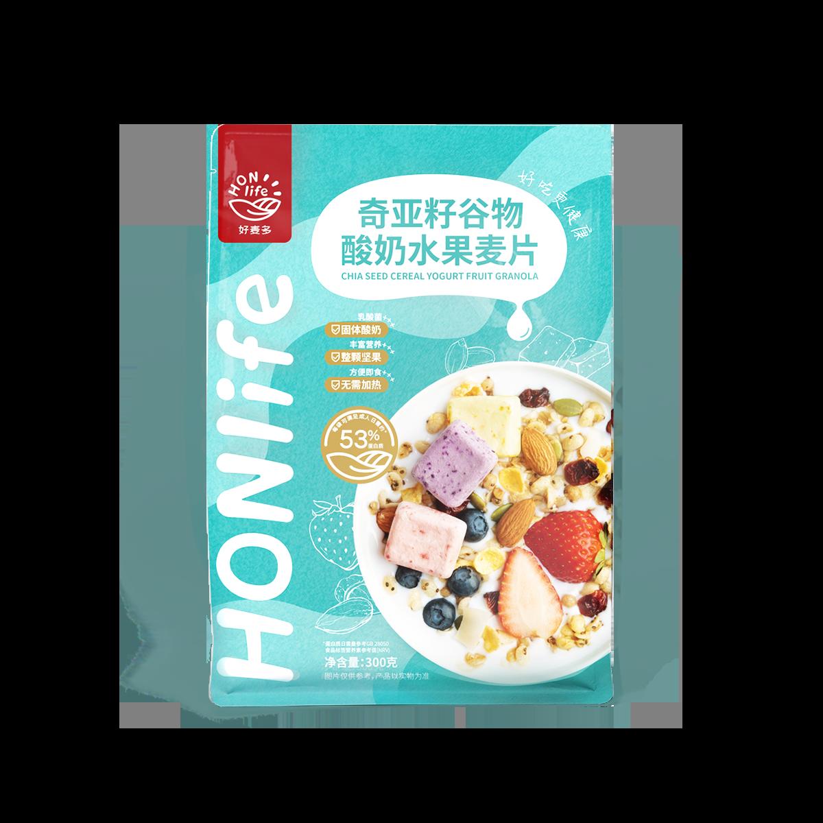 好麦多/Honlife奇亚籽酸奶水果麦片 1袋装300g